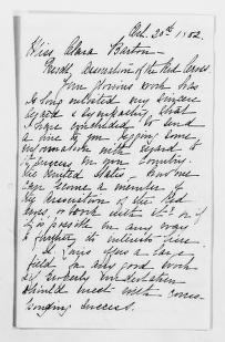 Clara Barton Papers: General Correspondence, 1838-1912; Fanning, Octavia Dix, 1882-1911