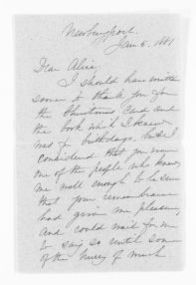"""Blackwell Family Papers: Alice Stone Blackwell Papers, 1848-1957; General Correspondence, 1871-1950; """"An"""" miscellaneous"""