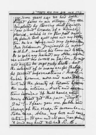 Blackwell Family Papers: Alice Stone Blackwell Papers, 1848-1957; General Correspondence, 1871-1950; Breshko-Breshkovskaia, Ekaterina Konstantinovna; 1924-1925