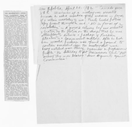 Blackwell Family Papers: Alice Stone Blackwell Papers, 1848-1957; General Correspondence, 1871-1950; Letters to the editor; 2 of 12