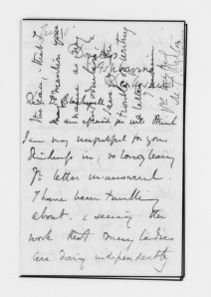 Blackwell Family Papers: Elizabeth Blackwell Papers, 1836-1946; General Correspondence, 1850-1910; Barton, M. T.