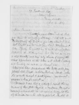 Blackwell Family Papers: Elizabeth Blackwell Papers, 1836-1946; General Correspondence, 1850-1910; Becker, S. E.