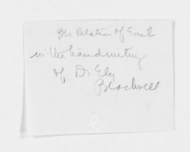 Blackwell Family Papers: Elizabeth Blackwell Papers, 1836-1946; Speech, Article, and Book File, 1857-1916; Stories and translations; 1 of 3