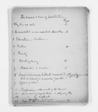 Blackwell Family Papers: Elizabeth Blackwell Papers, 1836-1946; Subject File, 1847-1910; French notes