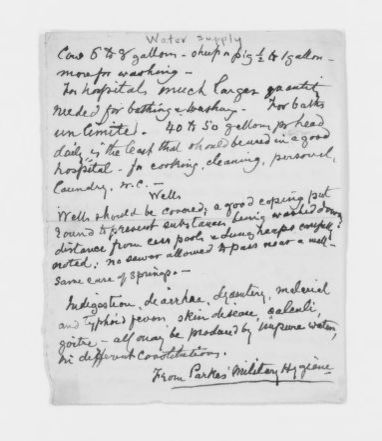 Blackwell Family Papers: Elizabeth Blackwell Papers, 1836-1946; Subject File, 1847-1910; Medical notes; 1 of 2