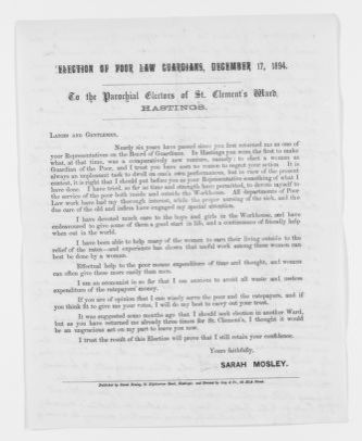 Blackwell Family Papers: Elizabeth Blackwell Papers, 1836-1946; Miscellany, 1858-1946; General; 3 of 5
