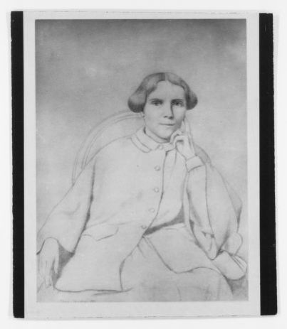 Blackwell Family Papers: Elizabeth Blackwell Papers, 1836-1946; Miscellany, 1858-1946; Portrait (drawing) of Elizabeth Blackwell