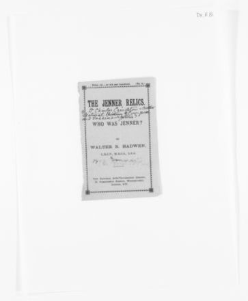 Blackwell Family Papers: Elizabeth Blackwell Papers, 1836-1946; Miscellany, 1858-1946; Printed matter; 1 of 2