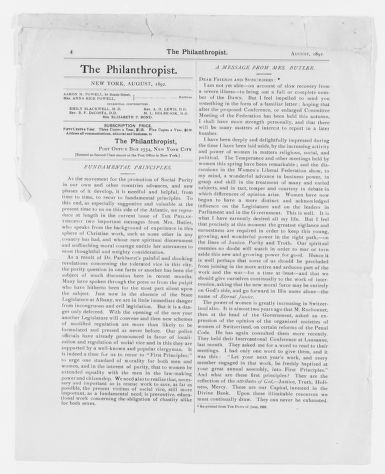 Blackwell Family Papers: Elizabeth Blackwell Papers, 1836-1946; Miscellany, 1858-1946; Printed matter; 2 of 2