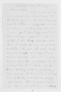 Blackwell Family Papers: Lucy Stone Papers, 1759-1960; Family Correspondence, 1759-1894; Blackwell, Alice Stone; 1869