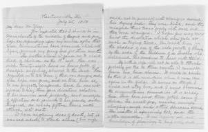 Blackwell Family Papers: Lucy Stone Papers, 1759-1960; General Correspondence, 1845-1893; May, Samuel J.