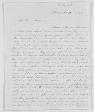 Blackwell Family Papers: Lucy Stone Papers, 1759-1960; General Correspondence, 1845-1893; Mott, Lydia
