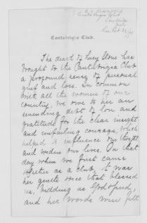 Blackwell Family Papers: Lucy Stone Papers, 1759-1960; Subject File, 1853-1960; Tributes to Stone, chiefly 1893; 1 of 7