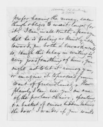 Blackwell Family Papers: Other Blackwell Family Papers, 1834-1945; Anna Blackwell Papers, 1834-1900; Correspondence; Family; Blackwell, Henry Browne; Undated
