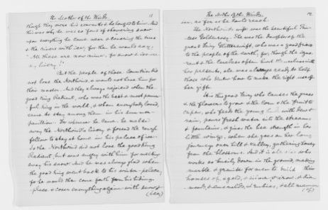 Blackwell Family Papers: Other Blackwell Family Papers, 1834-1945; Anna Blackwell Papers, 1834-1900; Miscellany; Fairy tales