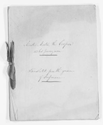 Blackwell Family Papers: Other Blackwell Family Papers, 1834-1945; Anna Blackwell Papers, 1834-1900; Miscellany; Translations and stories; 2 of 2