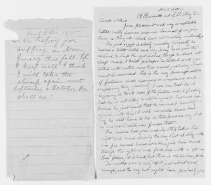 Blackwell Family Papers: Other Blackwell Family Papers, 1834-1945; Antoinette Louisa Brown Blackwell Papers, 1846-1929; Correspondence; Family; Blackwell, Alice Stone