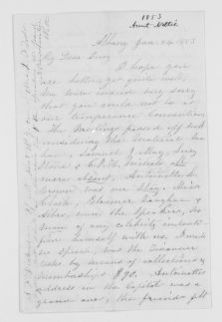 Blackwell Family Papers: Other Blackwell Family Papers, 1834-1945; Antoinette Louisa Brown Blackwell Papers, 1846-1929; Correspondence; Family; Stone, Lucy; 1853