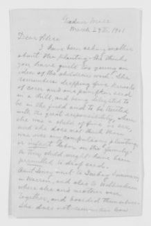 Blackwell Family Papers: Other Blackwell Family Papers, 1834-1945; Emma Lawrence Blackwell Papers, 1879-1911; Correspondence; Family; Blackwell, Alice Stone; 1901-1911