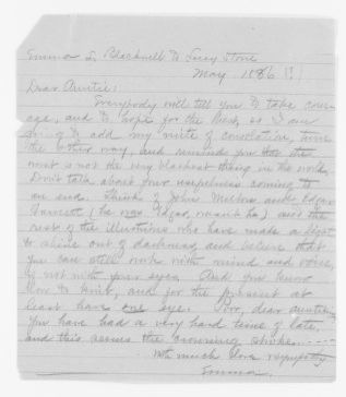 Blackwell Family Papers: Other Blackwell Family Papers, 1834-1945; Emma Lawrence Blackwell Papers, 1879-1911; Correspondence; Family; Stone, Lucy