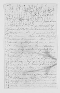 Blackwell Family Papers: Other Blackwell Family Papers, 1834-1945; Emma Lawrence Blackwell Papers, 1879-1911; Correspondence; Family; Blackwell, Marian