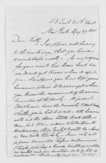 Blackwell Family Papers: Other Blackwell Family Papers, 1834-1945; George W. Blackwell Papers, 1841-1912; Correspondence; Blackwell, Kitty Barry