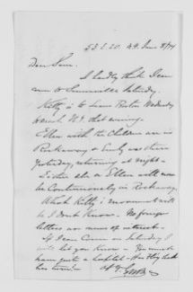 Blackwell Family Papers: Other Blackwell Family Papers, 1834-1945; George W. Blackwell Papers, 1841-1912; Correspondence; Blackwell, Samuel C.