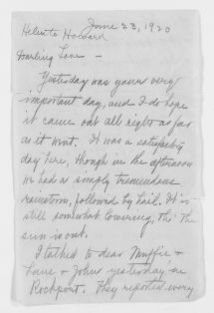 Blackwell Family Papers: Other Blackwell Family Papers, 1834-1945; Helen Thomas Blackwell Papers, 1906-1937; Blackwell, Howard L.