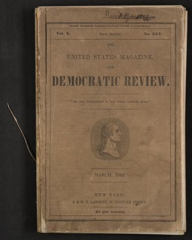"Walt Whitman Papers in the Charles E. Feinberg Collection: Literary File, 1841-1919; Prose, 1841-1892; 1842; Mar. , ""The Last of the Sacred Army,"" United States Magazine and Democratic Review, printed copy"