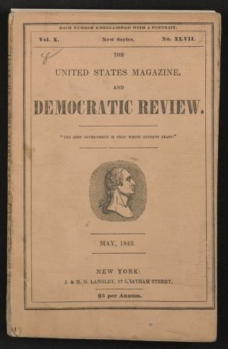 "Walt Whitman Papers in the Charles E. Feinberg Collection: Literary File, 1841-1919; Prose, 1841-1892; 1842; May , ""The Child-Ghost,"" United States Magazine and Democratic Review, printed copy"