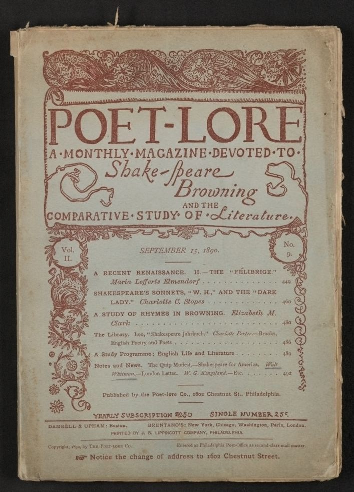Walt Whitman Papers in the Charles E  Feinberg Collection, Available