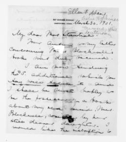 National American Woman Suffrage Association Records: General Correspondence, 1839-1961; Adams, Ellen F.