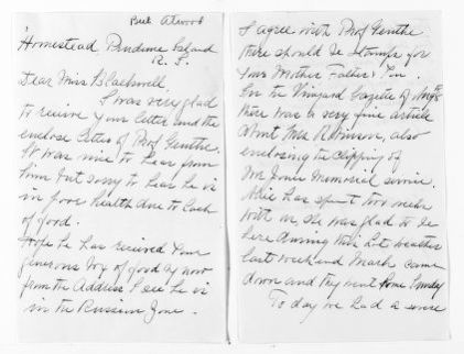 National American Woman Suffrage Association Records: General Correspondence, 1839-1961; Atwood, Beth H.; 1 of 2