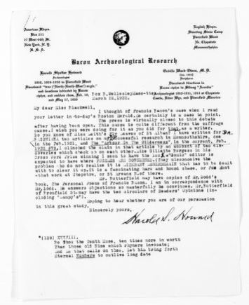 National American Woman Suffrage Association Records: General Correspondence, 1839-1961; Bacon Archaeological Research