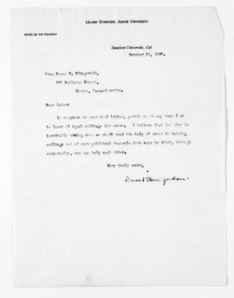 National American Woman Suffrage Association Records: General Correspondence, 1839-1961; Fitzgerald, Susan W.