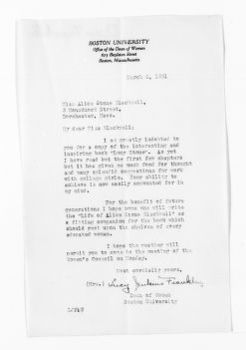 National American Woman Suffrage Association Records: General Correspondence, 1839-1961; Franklin, Lucy J.
