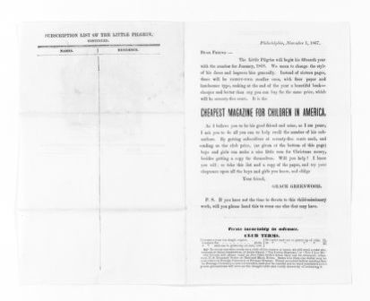 National American Woman Suffrage Association Records: General Correspondence, 1839-1961; Greenwood, Grace