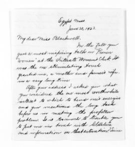 National American Woman Suffrage Association Records: General Correspondence, 1839-1961; Hatch, Elizabeth J.