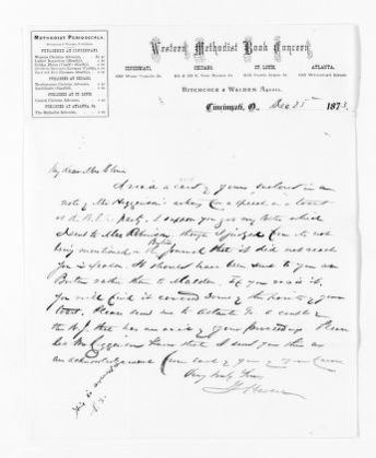 National American Woman Suffrage Association Records: General Correspondence, 1839-1961; Haven, G.
