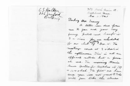 National American Woman Suffrage Association Records: General Correspondence, 1839-1961; Holden, Cadge S.