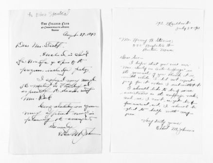 National American Woman Suffrage Association Records: General Correspondence, 1839-1961; Johnson, Ethel M.