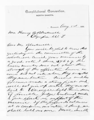 National American Woman Suffrage Association Records: General Correspondence, 1839-1961; Pollock, R. M.