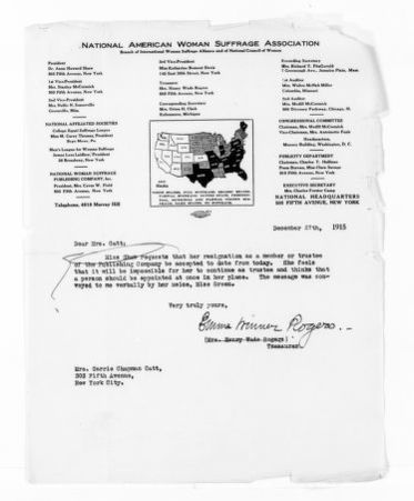 National American Woman Suffrage Association Records: General Correspondence, 1839-1961; Rogers, Emma W.
