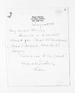 National American Woman Suffrage Association Records: General Correspondence, 1839-1961; Young, Rose