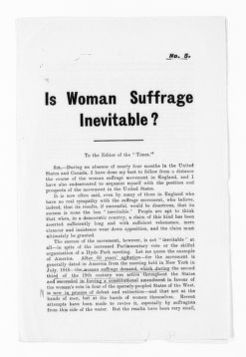 National American Woman Suffrage Association Records: Subject File, 1851-1953; Antisuffrage literature; 5 of 36
