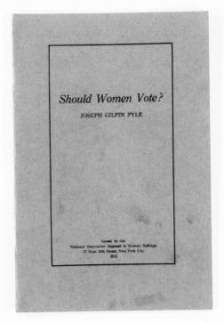 National American Woman Suffrage Association Records: Subject File, 1851-1953; Antisuffrage literature; 14 of 36