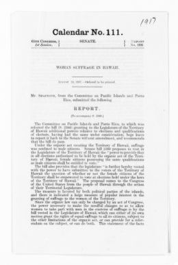 National American Woman Suffrage Association Records: Subject File, 1851-1953; Hawaii suffrage associations