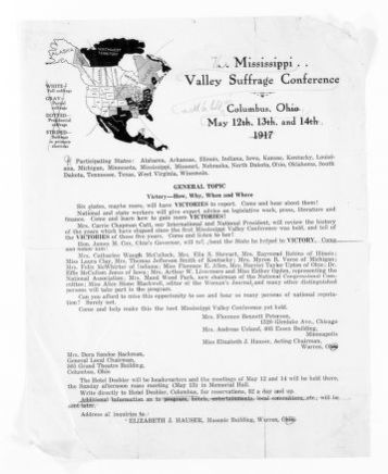 National American Woman Suffrage Association Records: Subject File, 1851-1953; Mississippi Valley Suffrage Conference