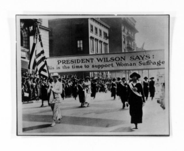 National American Woman Suffrage Association Records: Subject File, 1851-1953; Parades for suffrage