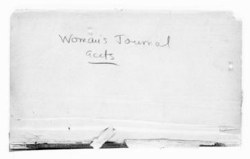 National American Woman Suffrage Association Records: Subject File, 1851-1953; Woman's Journal; Account book, 1901-1903
